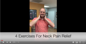 4 exercises for neck pain relief